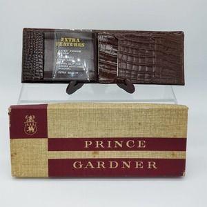 VTG Prince Gardner Brown Leather Wallet Buffalo